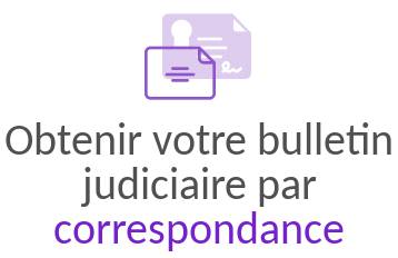 bulletin judiciaire par correspondance