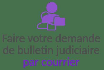 bulletin judiciaire par courrier