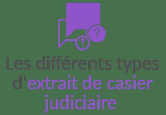 definition extrait casier judiciaire