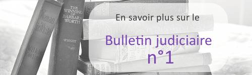bulletin judiciaire n1