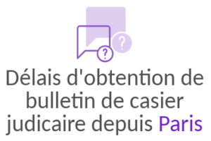 delai obtention bulletin casier judiciaire paris